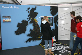 Move Me Map at Dott07 exhibition