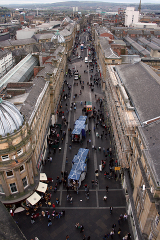 CONTAINS in Grainger Street - viewed from the Monument