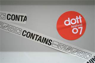 CONTAINS tape and Dott07 sticker
