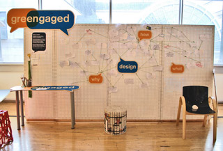 greengaged manifesto – interactive wall