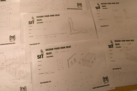 Design Your Own Seat concept sketches