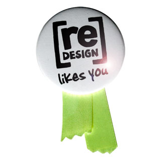 [re]design likes you badge